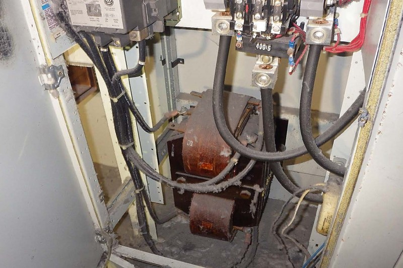 Figure 5.0 Motor Control Center (MCC) Transformer Before Decontamination