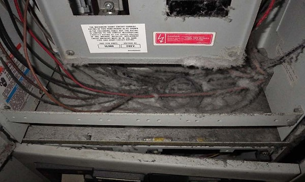 Figure 7.0 MCC Circuit Breaker Panel Before Decontamination